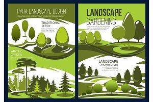 Landscape design, garden tree