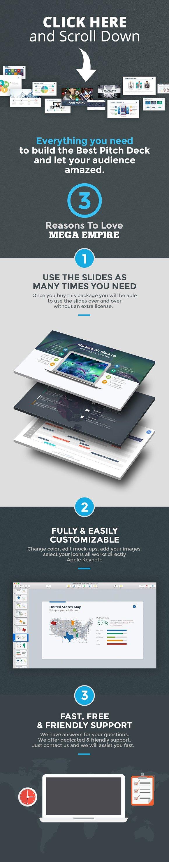 MEGA EMPIRE Keynote Bundle Presentation Templates Creative Market - Us map keynote