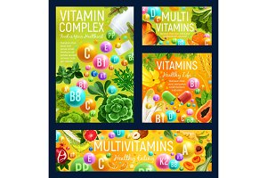 Vitamins, fruits and vegetables