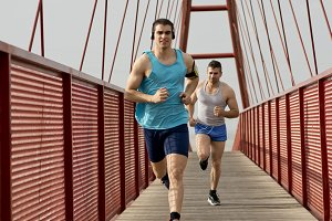 Runners in the bridge