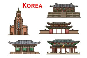 Korean travel landmarks buildings