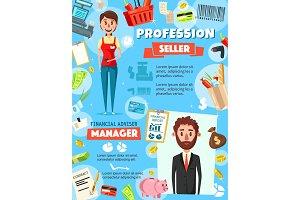 Finance manager, advisor and seller