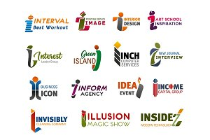 Corporate identity, business icons