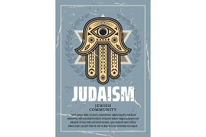 Hamsa talisman and Star of David