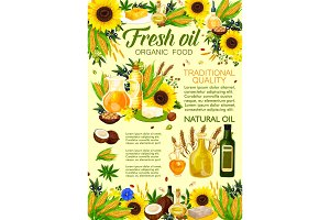 Natural oil, vegetable and plant