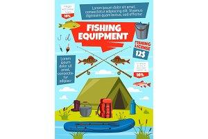 Fishing sport, fisherman tackle