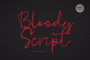 Bloody Script SVG Font