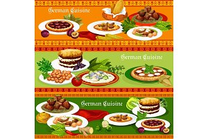 German meat and fish dishes