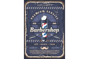Barbershop pole, barber razor