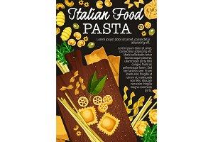 Pasta, spaghetti, penne vector