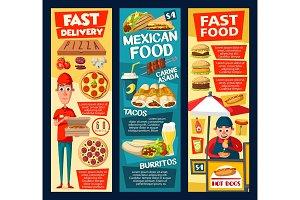 Fast food vendor, pizza and tacos
