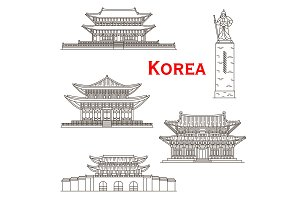 Korean travel landmarks of Seoul
