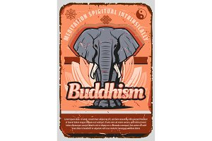 Buddhism religion elephant, lotus