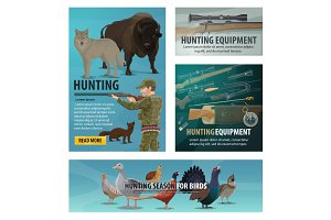 Hunting season animal and birds
