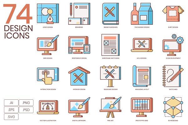 74 Design Flat Icons