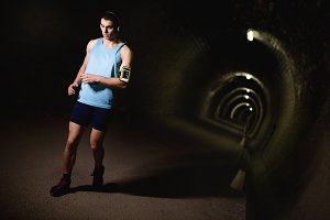 Runing in tunnel