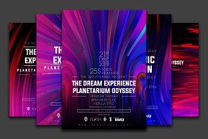 Colorful flyer template