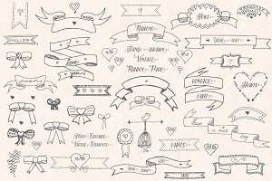 Ribbons and Bows - Hand drawn pack