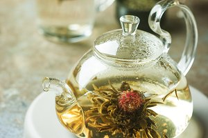 Blooming tea flower