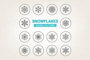 Circle snowflakes icons
