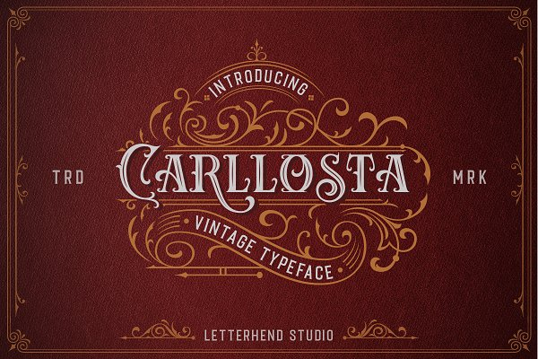 Carllosta - Layered Font (+EXTRAS)