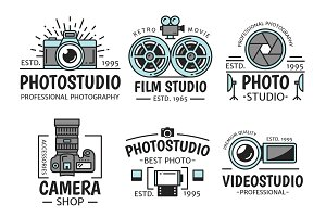 Photography and film vector icons