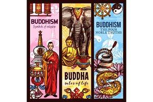 Buddhism religion sacred symbols