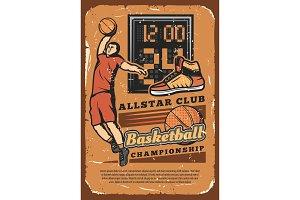 Basketball club league poster