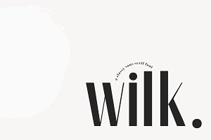 Wilk - A Classy Sans Serif Font