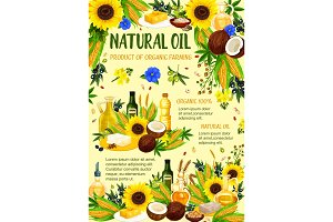 Organic vegetable and nut oil