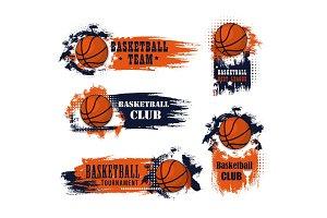 Basketball team vector icons