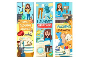Home cleaning, laundry, washing