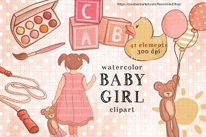 Baby Girl cute clipart