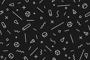 Geometric memphis pattern. Seamless