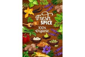 Organic herbs and seasonings