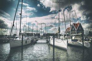 yacht harbor in Volendam