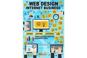 Web design, internet business vector