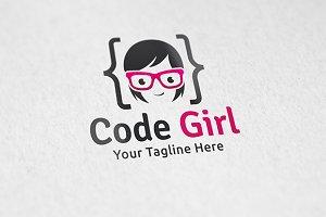 Code Girl - Logo Template