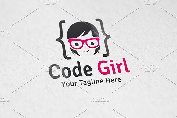 Code Girl - Logo Template