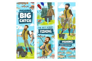 Fishing and fisher man fish catch