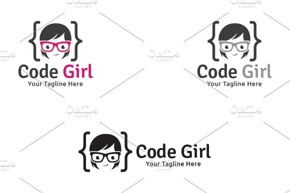 Code Girl - Logo Template in Logo Templates - product preview 2