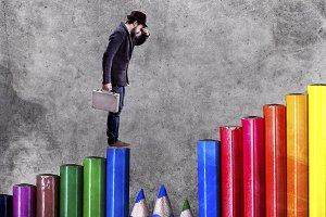 precipice of businessmen