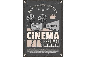 Cinema movie festival vector