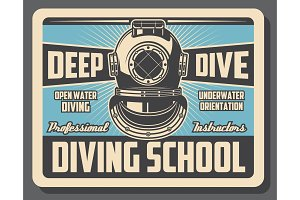 Sea diving sport school training