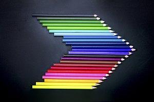 arrow colored pencils