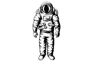 Illustration of astronaut. Spaceman