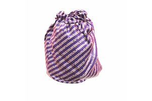 Santa Claus's striped bag or sack