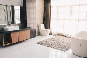 Modern luxury bathroom interior