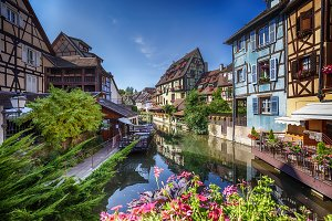 summer panorama in Colmar
