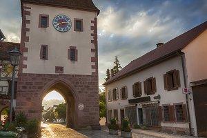 sunset in Endingen, Germany